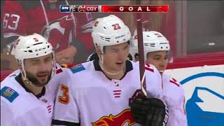 Monahan nets two as Flames top Devils