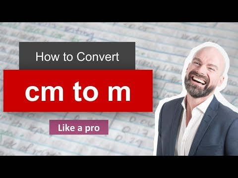 Convert Cm to M (centimeter to meter) with example