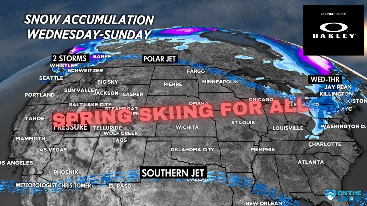 Spring Skiing is Here   Weekly Weather Forecast