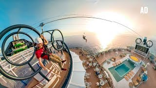 WORLD'S LONGEST ZIPLINE AT SEA!