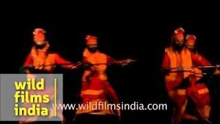Punjab folks perform Bhangra dance to the beats of dhol