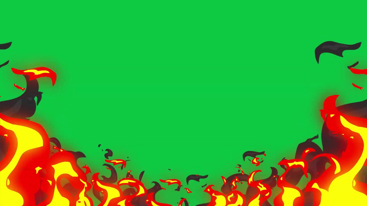 2D ANIMATED FIRE GREEN SCREEN PACK FREE DOWNLOAD - YouTube