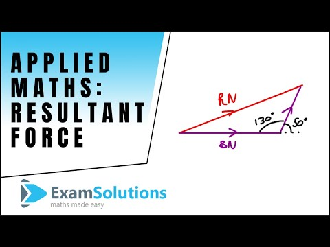 How to find Resultant Force - Two Forces Mechanics : ExamSolutions