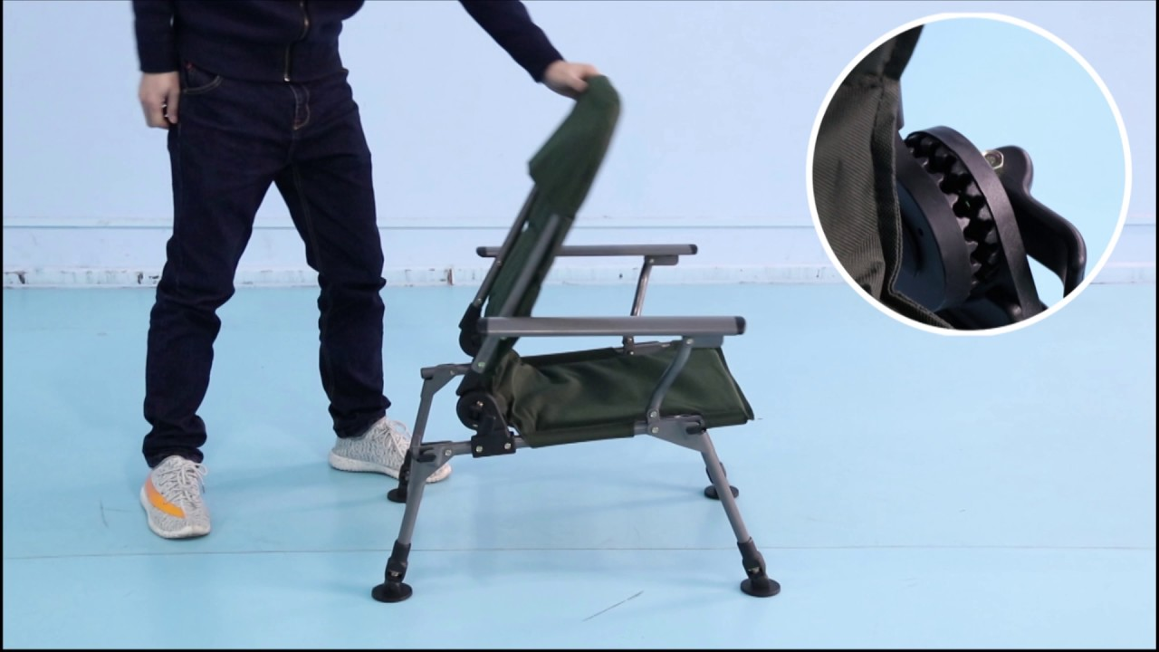 Fishing Chair Legs Covers Middlesbrough Folding With Adjustable Yaheetech Youtube
