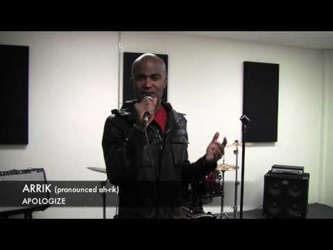 """Arrik sings """"Apologize"""" -Timbaland."""