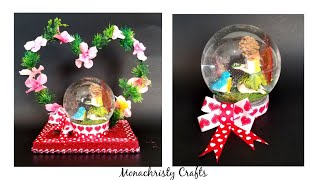DIY snow globe Showpiece | Valentine