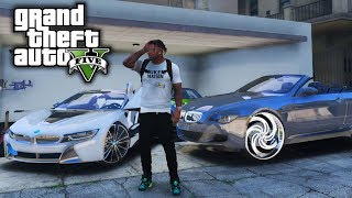Franklins Project BMW 650i Gets 28s! GTA 5 Real Life Mod #74 (Real Hood Life 4)