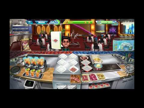 Cooking fever....new update..hell's kitchen show the first lvl game play....thanks