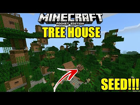 Seed Rumah Pohon Villager Top Seed Minecraft Pe Pocket