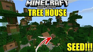 SEED RUMAH POHON VILLAGER !! TOP SEED ! | Minecraft PE | (Pocket edition) | Mcpe
