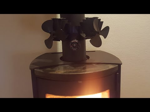 Stove fan . Thermo electric powered  .