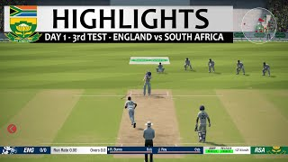 Day 1 - 3rd Test South Africa vs England Highlights Prediction Cricket