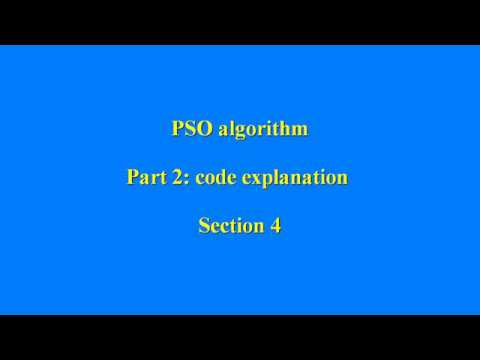 PSO algorithm in matlab (code explanation) - section 4