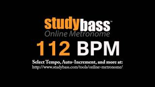 112 BPM Online Metronome (12 min) | StudyBass