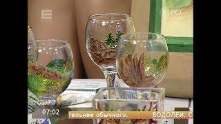 Красноярка создала коллекцию бокалов с рисунками «Столбов»