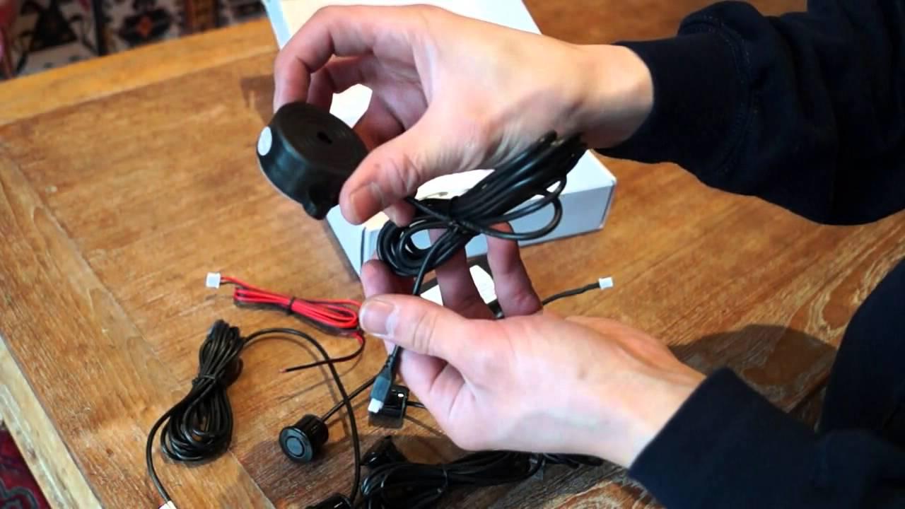 Led Backup Lights Wiring Reverse Parking Sensor Diy Kit From Ebay Youtube