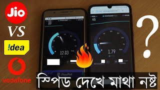 Vodafone Idea VI Vs Reliance Jio Which Is Faster?,কার স্পিড বেশি?
