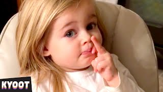 That's a Suspicious Face 😂 | Baby Cute Funny Moments | Kyoot