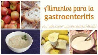 Alimentos para gastroenteritis
