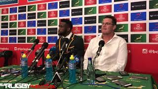 Springbok press conference – Rassie & Siya (06/10/18)