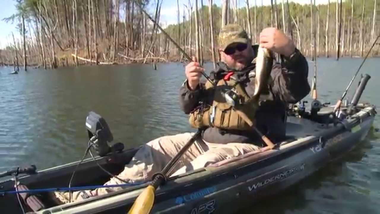 Kayak bass fishing youtube for Bass fishing kayak