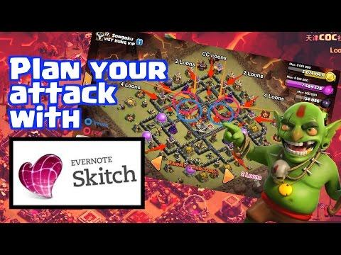 [Tools] Planning your attack with Skitch app | 3 Stars LavaLoon