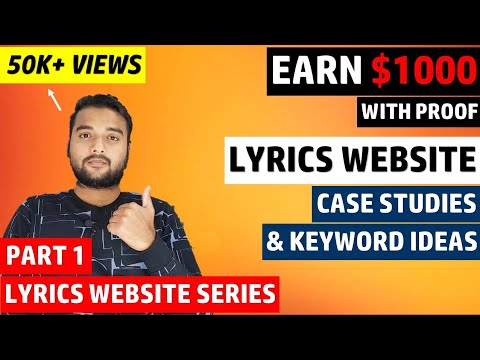 LYRICS WEBSITE with Adsense Proof, SEO Tips & Tricks in 2020 Simple Copy Paste Work