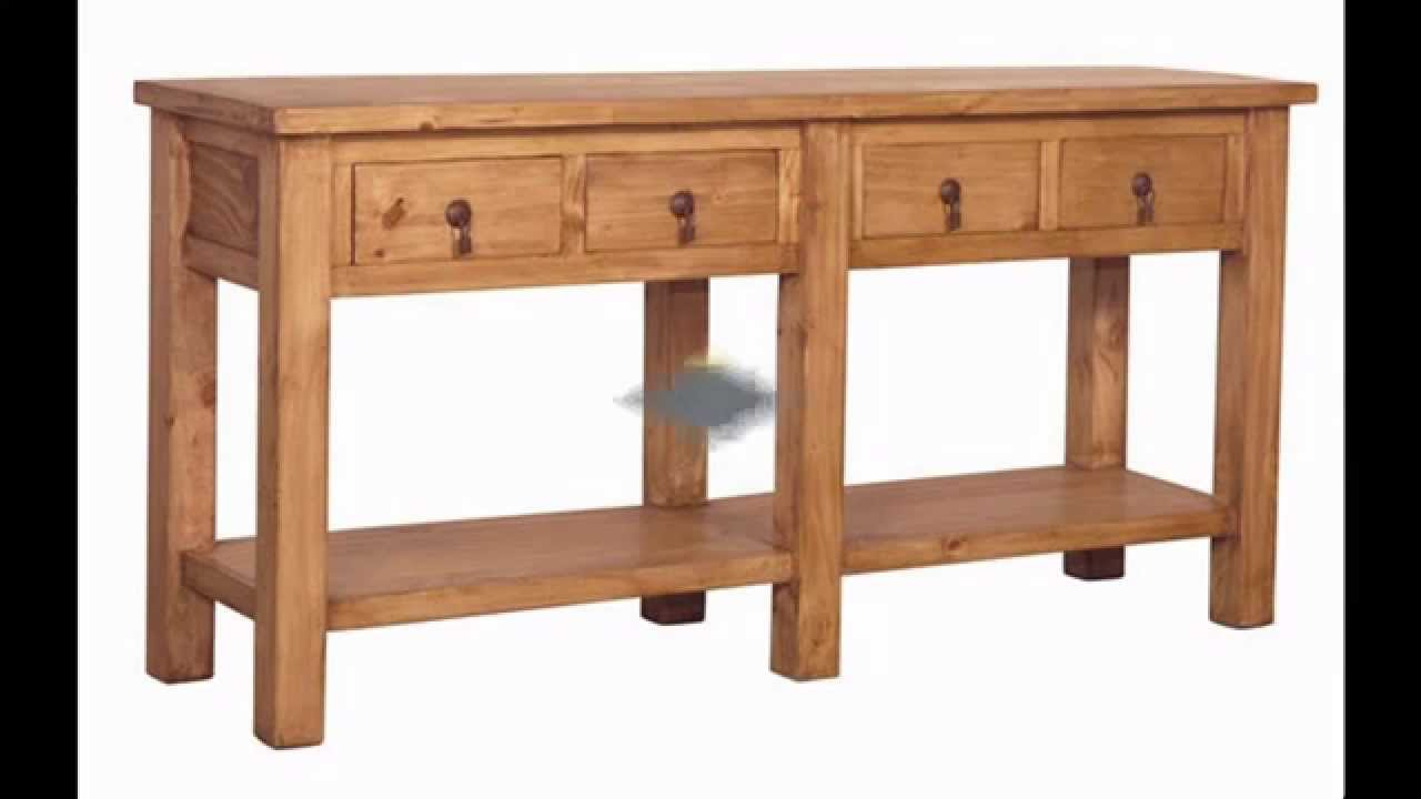 Rustic console table design ideas - YouTube