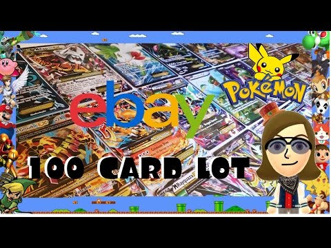 LOT OF 100 POKEMON CARDS FROM EBAY?!