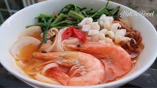 Cách làm bún Thái ngon cho người Việt|| Nước dùng không bị đắng || Natha Food