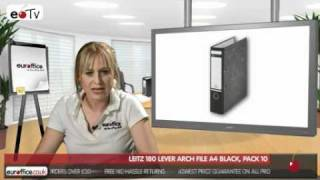 Leitz 180 Lever Arch File A4 Black, Pack 10
