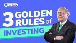 Warren Buffett - 3 Golden Rules for Investing by Warren Buffett | Warren Buffett Investment Strategy