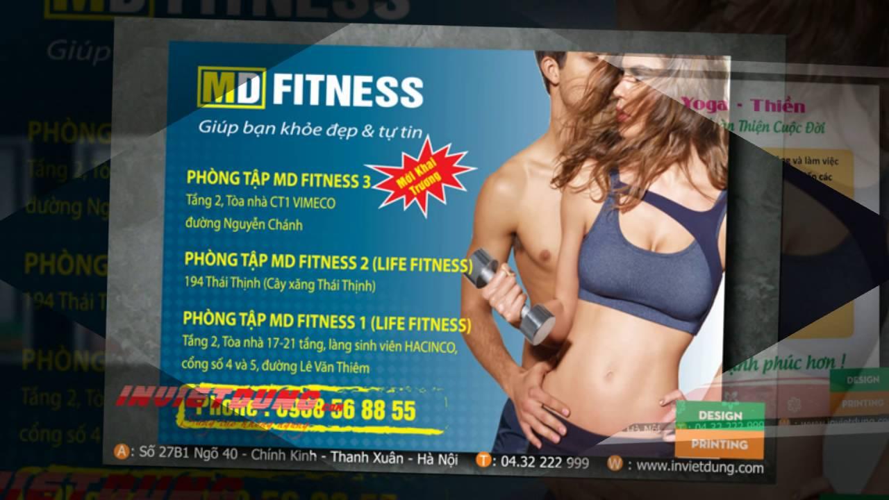 Tờ rơi quảng cáo phòng gym, tập thể hình, clb thể dục thẩm mỹ, yoga, fitness
