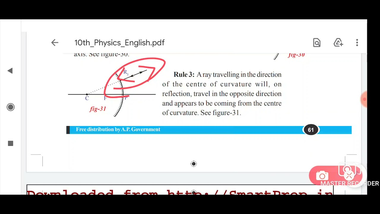 """(in telugu) class 10 Physics """"Refection of light """" part 4"""