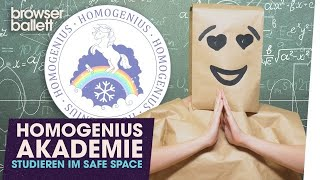 Homogenius Akademie - Studieren im Safe Space