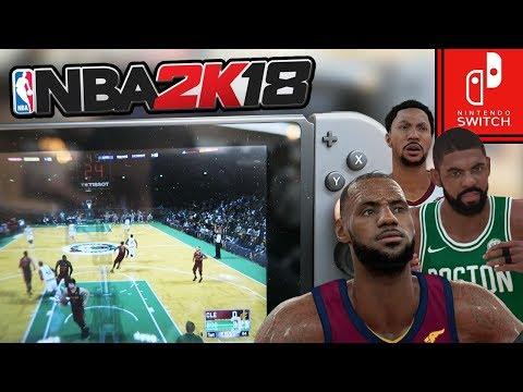 NBA 2k18 Nintendo Switch OFFICIAL Gameplay! CELTICS vs CAVALIERS! Kyrie Irving vs LeBron James!