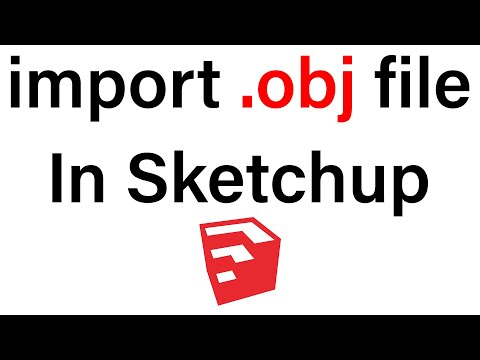 How to import .obj file in Sketchup 'Free'