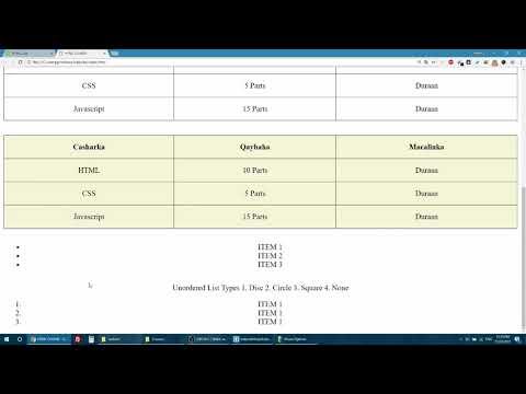 HTML/CSS Beginner Lessons - 005 (Somali)