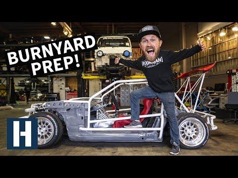 Burnyard Bash Prep for ShartKart, our $200 Miata! RX-7 Powered Pit