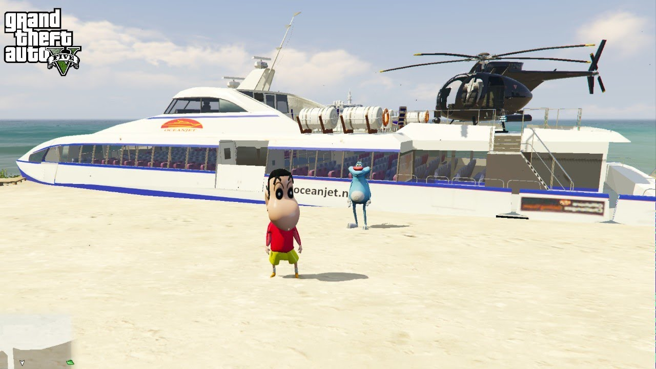 GTA 5 : SHINCHAN GETS SPECIAL CRUISE SHIP BY OGGY #15