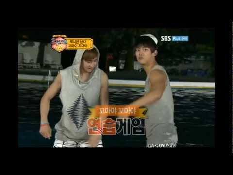 [Taeckhun] 2PM show E04- Taecyeon & Nichkhun jumping rope