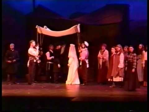 Josh Groban in The Fiddler on The Roof --- Part 7--- Sunrise Sunset -- May, 1999