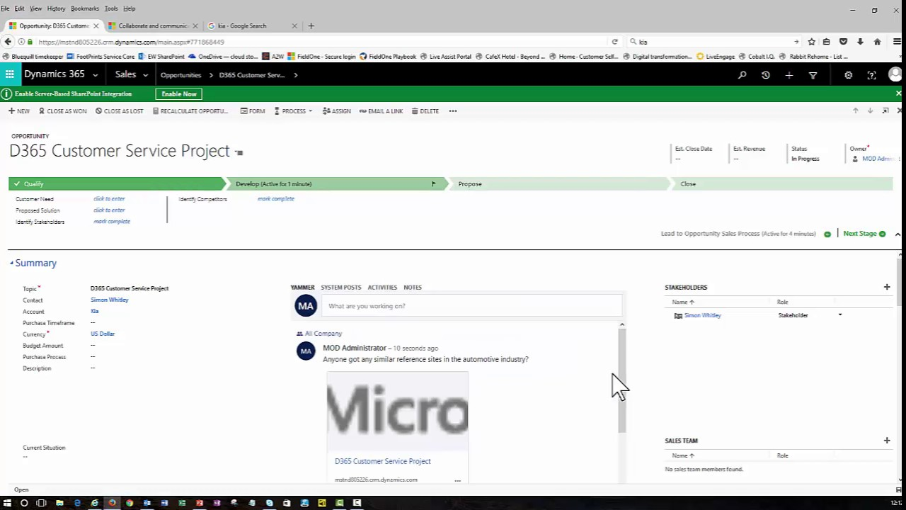 How to use the yammer integration with microsoft dynamics 365 youtube - Yammer office 365 integration ...