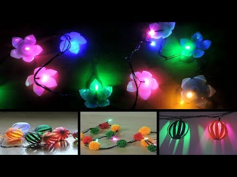 3 Easy way to transform old boring String Lights    DIY String Lights     Diwali Decoration Ideas   