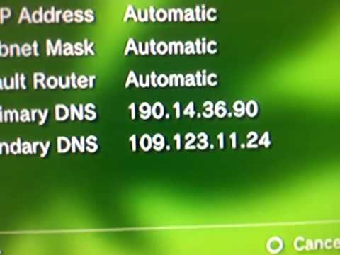 how to change the dns on ps3