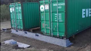 conex Shipping Container Foundation