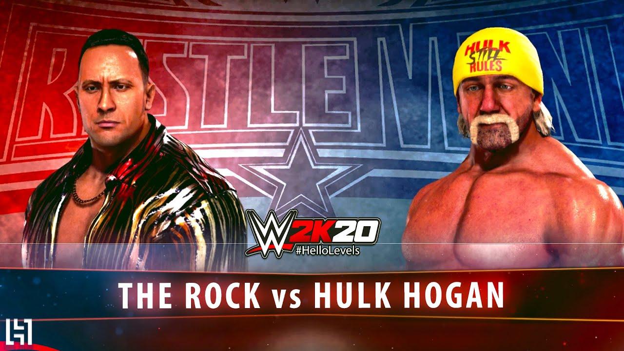 WWE 2K20 The Rock vs Hulk Hogan Match PS4 Gameplay