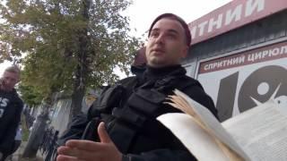 Работа полиции Киева/Беркута во всей красе.  Нагнись, потом обжалуй.   Ч2