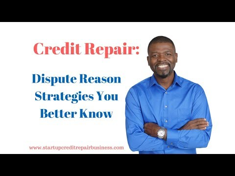 Credit Repair: Dispute Reason Strategies You Better Know: 1-888-959-1462