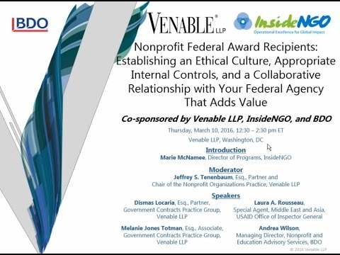 Nonprofit Federal Award Recipients - March 10, 2016